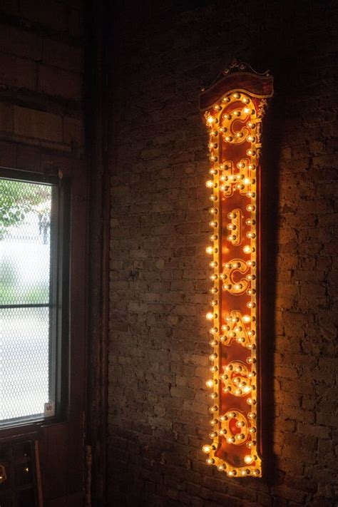 Handmade Chicago - handmade chicago theater replica light up sign made of