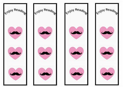 printable birthday bookmarks mustache bookmarks birthday printable
