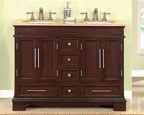 silkroad 48 quot double bathroom vanity travertine top white