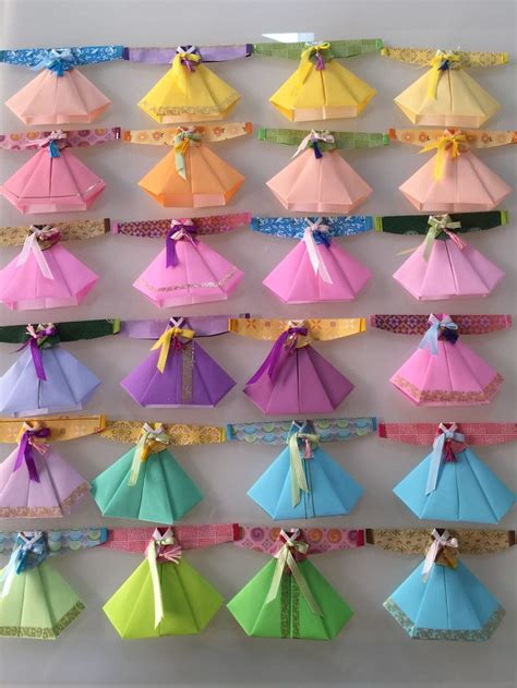 Korean Origami Paper - image gallery origami korean traditional dress