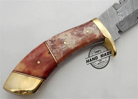 Handmade Tanto - damascus tanto bowie knife custom handmade damascus steel