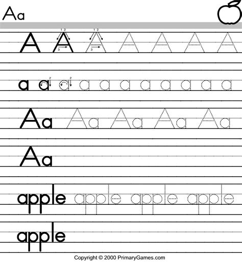 printable worksheets for kindergarten alphabet tracing letters of the alphabet a preschool teachers best