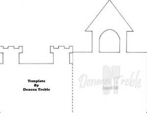 castle template for a path of paper castle card template