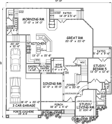 monster house floor plans monster house plans porte cochere