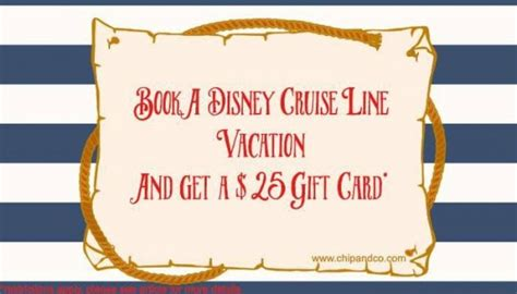 Disney Cruise Line Gift Card - book disney cruise line in october get a 25 gift card