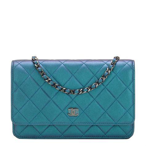 Sale Tas Wanita Lv Classic Woc chanel iridescent turquoise lambskin classic wallet on chain woc world s best
