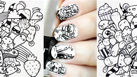 how to make doodle for beginners easy nail for beginners doodle nails sting moyou