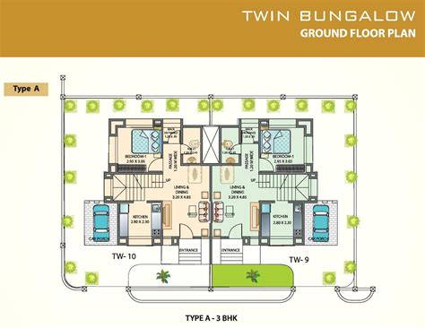 ground floor of a twin bungalow in leela greens talegaon pushpendra city floor plans project 3d views in ratnagiri