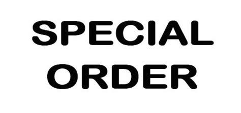 Spesial Order K special order