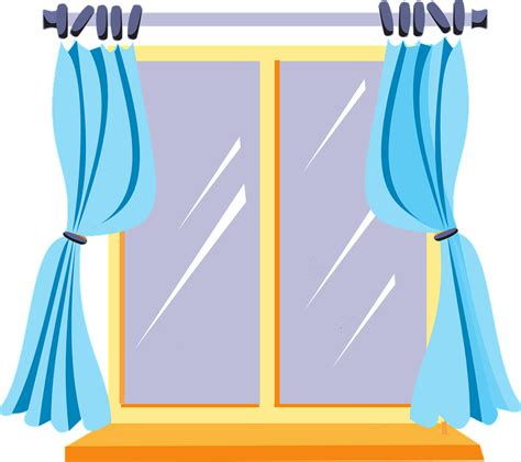 clipart windows free vector graphic window curtains inside home free