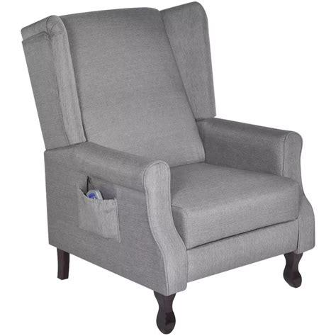 poltrona tv poltrona tv massaggio in tessuto grigio regolabile