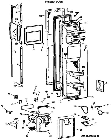 hotpoint refrigerator parts model csxdrtaaa sears