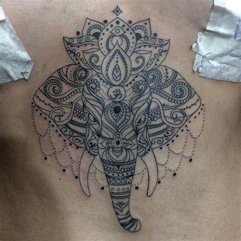 sternum tattoo elephant 21 cool and creative elephant tattoo ideas page 2 of 2