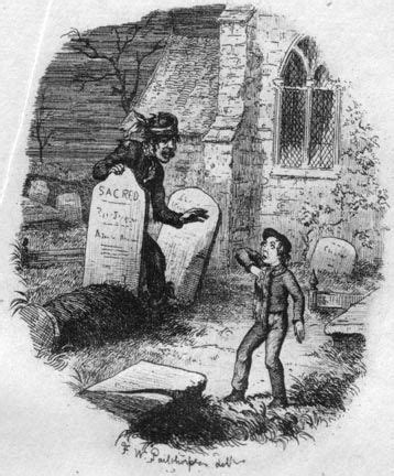 great expectations victorian themes the terrible stranger in the churchyard illustration by