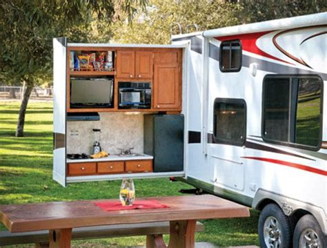 Cer Travel Trailer With Outdoor Kitchen Amazing Rv With Outdoor Kitchen