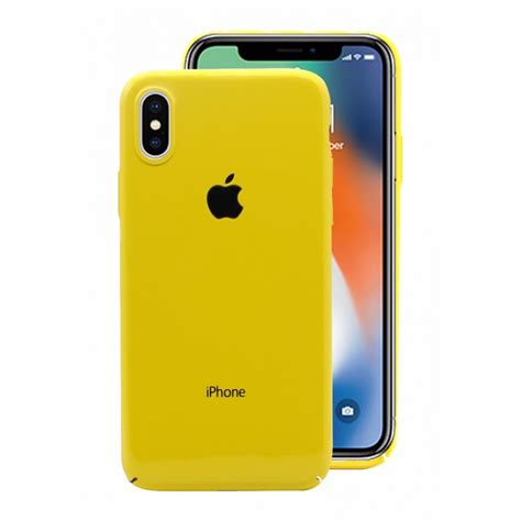 hicool ultra slim cover for iphone x yellow
