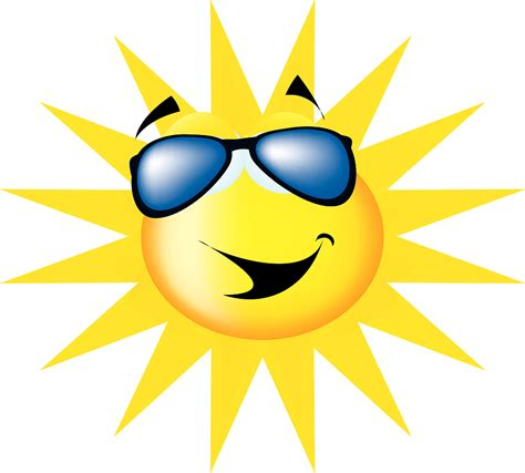 Sun Wearing Sunglasses Clipart gallery for gt sun with sunglasses clipart