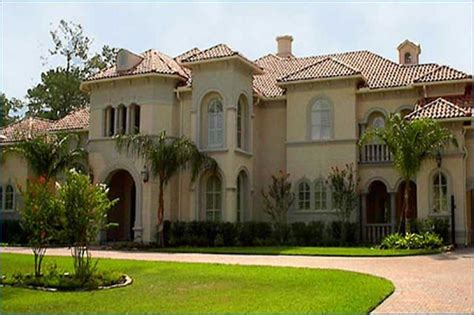 palatial two story master suite in mediterranean style luxury home plans mediterranean house design 134 1382