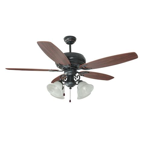 design house fans design house 154005 4 light drake ceiling fan dark mahogany atg stores