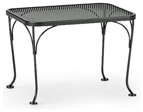 Wrought Iron Patio Side Table Woodard Wrought Iron Patio End Table Modern Patio Furniture And Outdoor Furniture By Hayneedle