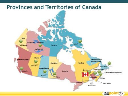 a map of canada with the provinces and territories of cana