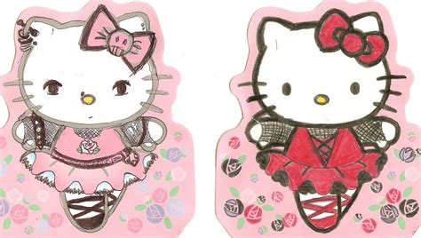 wallpaper hello kitty punk hello kitty gone punk by greeneyezz