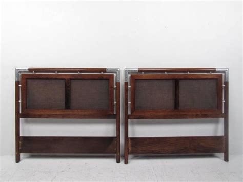 Modern Headboards For Sale by Pair Of Mid Century Modern And Chrome Size