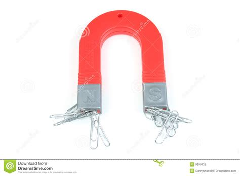 How To Make A Paper Clip Magnetic - magnet and paperclips stock photo image of isolated
