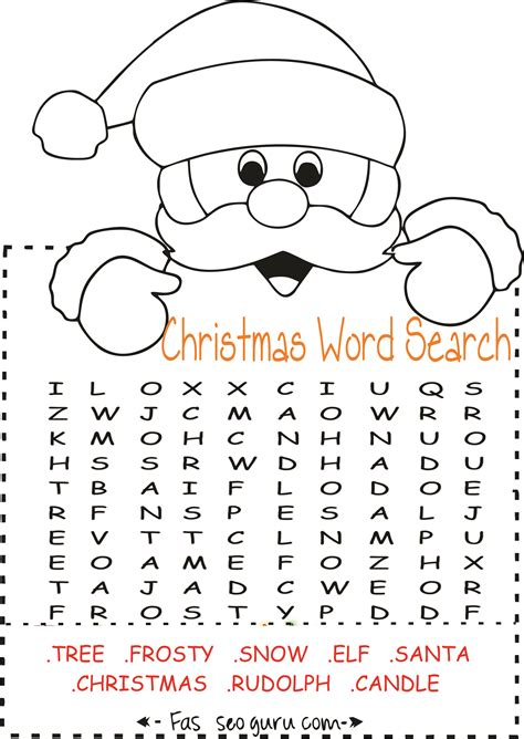 printable christmas word search pages printables easy christmas word search for kids