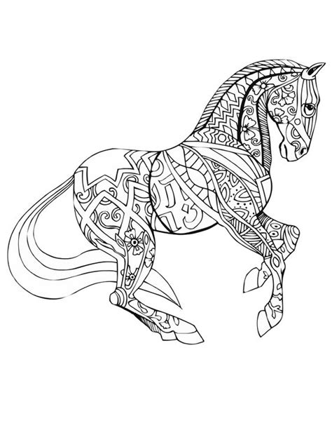 pony coloring pages for adults horse free download selah works adult colouring