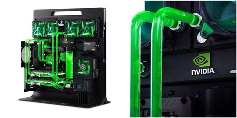Komputer Pc Cpu Rakitan Gaming Pesanan epic green custom build the cpu tech