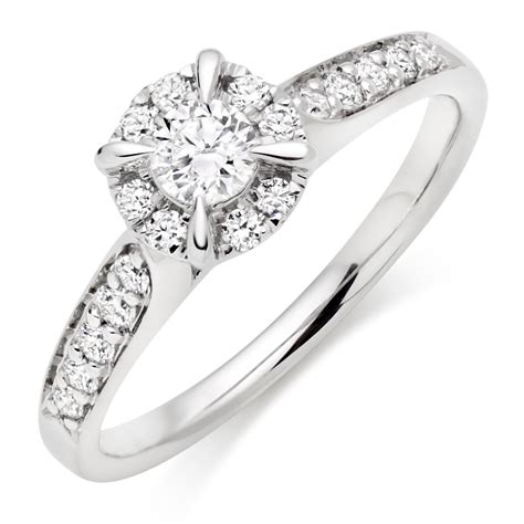 Platinum Engagement Rings by Platinum Cluster Ring 0008201 Beaverbrooks The