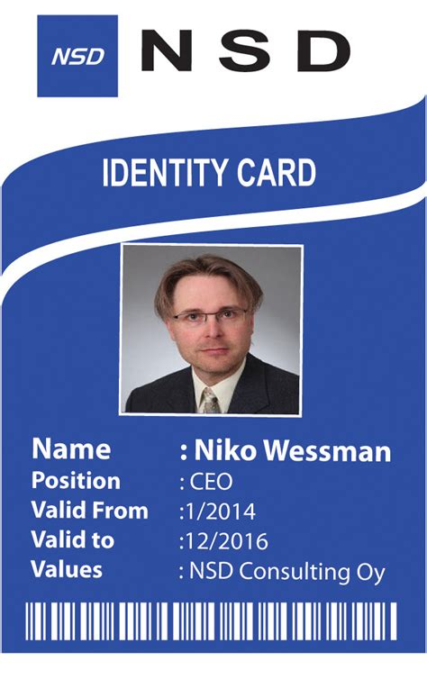 Company Id Card Format Design