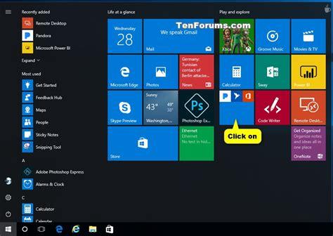 windows 10 live tile tutorial start menu live folders create and use in windows 10