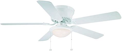 hton bay hugger 52 in white ceiling fan with light hton bay hugger 52 in white ceiling fan with light
