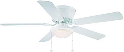 hton bay hugger 52 in white ceiling fan with light