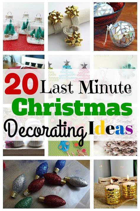 20 last minute christmas decorating ideas the budget diet