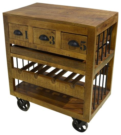 rustic kitchen islands and carts mango wood wine cart rustic kitchen islands and