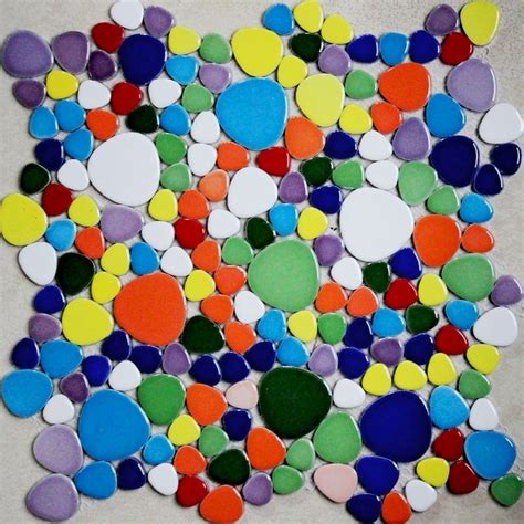 colorful mixed colors pebble ceramic tiles for bathroom shower floor tiles kitchen backsplash