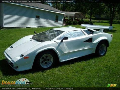 Fiero Kits Lamborghini 1985 Pontiac Fiero Lamborghini Kit Car White Gray Photo