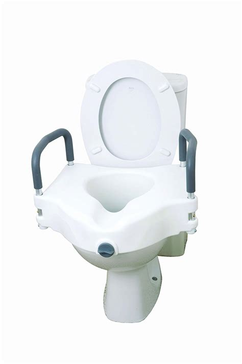 toilet seat with arms raised toilet seat with arms bathroom aids