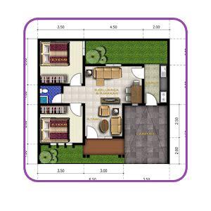 gambar denah desain rumah  pc