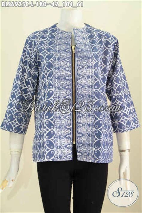 desain baju batik santai baju blus kerja pakaian batik santai desain keren dengan