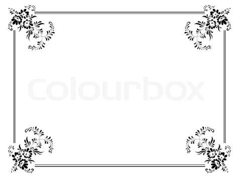 weiss schwarz card template illustration vintage rahmen in schwarz und wei 223