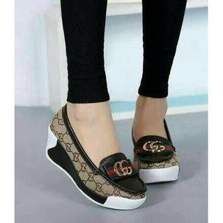 Sandal Wanita Gucci 139 3 slip on wedges gucci g 3 warna sepatu wanita sandal cewek