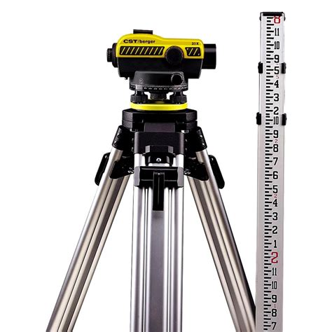 Tripod Auto Level cst berger 174 auto level kit with tripod and rod