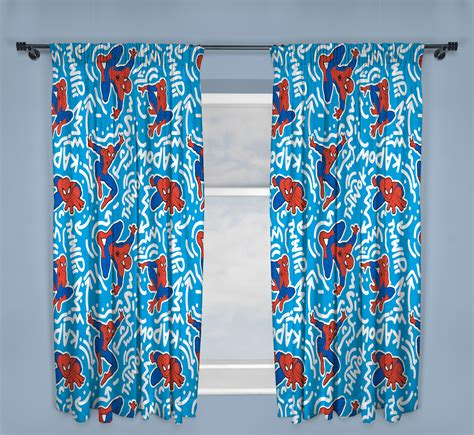 spiderman curtains new spiderman popart design pair of curtains 66 x 54