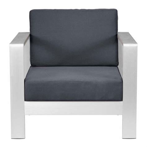cosmopolitan arm chair cushion gray modern in designs