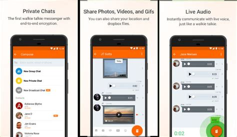 voxer for android top 6 best walkie talkie apps for android and ios 2017