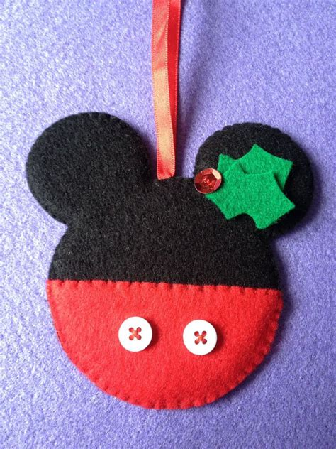 Mickey Mouse Handmade Decorations - new handmade shabby chic felt tree decorations